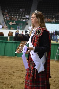 The Minnesota Lassie Queen Riley Francis is pictured handing out ribbons